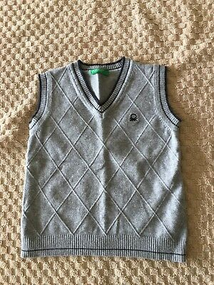 Benetton  Toddler Boys Knit Vest 18 Months