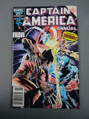 Captain America Annual #8 1986 Fine-VF Wolverine- Zeck Cover-Newsstand Marvel