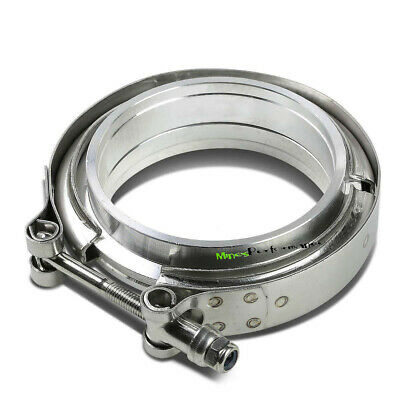 """ID 3.0"""" 76mm V-Band Aluminium Flange Steel Clamp O-Ring Intercooler inlet Pipe"""