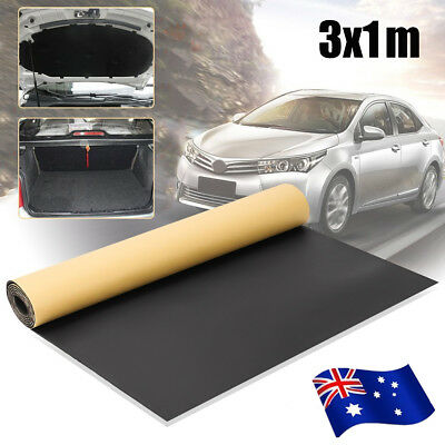 3/2M Roll Car Sound Proofing Insulation Foam Mat Deadening Closed Carpets 6mm AU