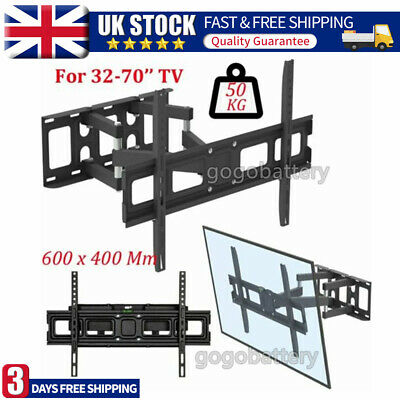 Double Twin Two Glass Floating Shelves Shelf For DVD SKY BOX TV PS4 Wall Mounted