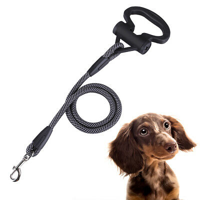 4FT Pet Dog Lead Leash Strong & Durable Nylon Rope Waste Bag for Walking Running