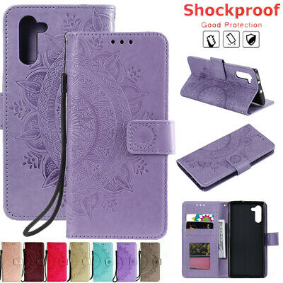 For Samsung Note10 S10e S10 S9 S8 Plus Card Wallet Stand Flip Leather Case Cover