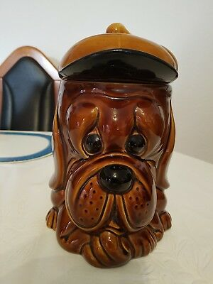 Vintage Price & Kensington SOPPY DOG Biscuit Barrel Hund Keksdose Keramik 70 er