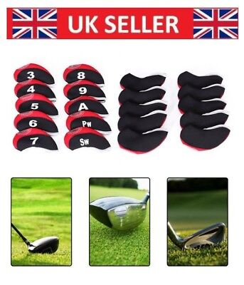 10 Neoprene JL Golf Club Headcovers Head Cover Iron Protect Set choose colour uk