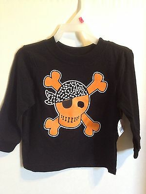 NEW Toddler Halloween Pirate Graphic Print T-shirt Size 18 Mths ~ Long Sleeves
