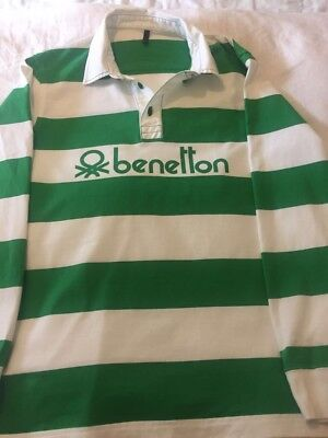 518301d9a71 BENETTON RUGBY SHIRT 80's Casual Rare Vintage Size Large - £67.00 ...
