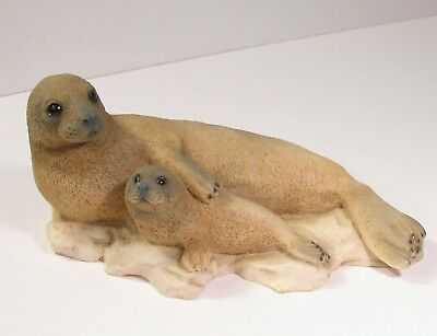 Castagna Seal Pup Cute Figurine Sculpture Italy 1991 Alabaster  Brown