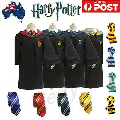 AU Christmas Harry Potter Kids Adult Cosplay Gryffindor Ravenclaw Robe Costume