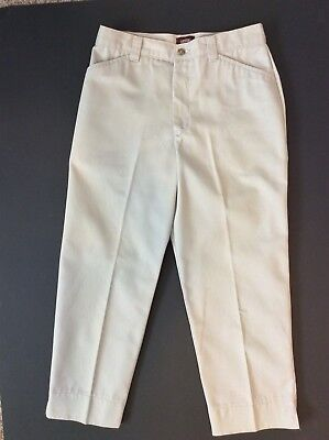 Lee Riders Casuals Khaki Light Tan Cropped Jeans Capris Womens Size 6