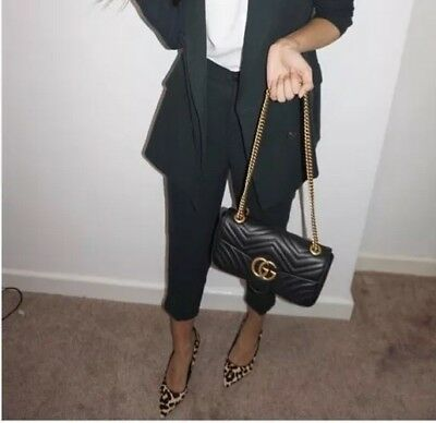 cef82aae00aee1 GUCCI GG MARMONT Small matelasse leather shoulder bag - £1,000.00 ...