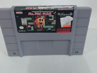 MS. PAC-MAN Super Nintendo SNES Stickers on Game