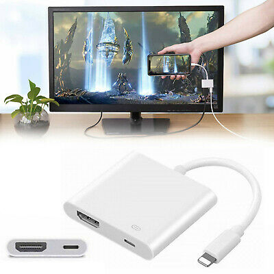 New Lightning To HDMI Digital AV TV Cable Adapter For iPad & iPhone 6 7 8 Plus X