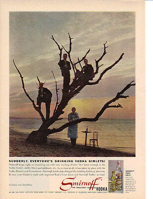 1960 Old Ragged Tree In A Smirnoff Vodka Gimlet Ad