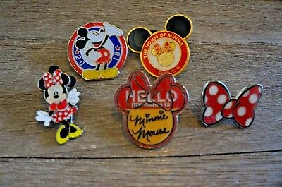 Pin Trading Disney Pins Monogram Inc Mickey Mouse Minnie Mouse  M.I.I.  Lot of 5