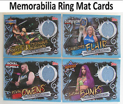 Slam Attax Live 2018 Memorabilia Ring Mat WWE NXT RAW Official Wrestlemania 33