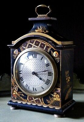 Early 20th Century Chinoiserie Lacquer Table Clock