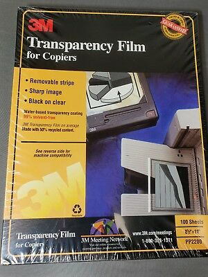 """3M PP2200 Transparency Film For Copiers (100 Sheets) 8 1/2"""" x 11"""" (NEW / SEALED)"""