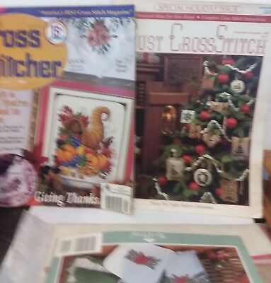 Counted cross stitch mag-4-just in time for christmas  and 1 kit