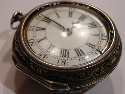 Antique 18Th Century Verge Fusee Bell Striking Clockwatch By Mybourne, London.