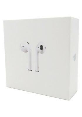 New Apple AirPods White MMEF2AM/A In Ear Bluetooth Headset Authentic Airpod