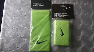 Nike Tennis Headband And Wristband - Green BNWT