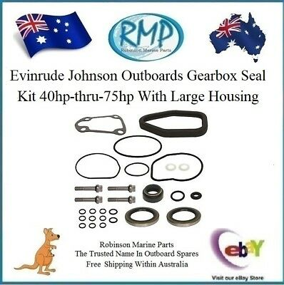 1 x New Gearbox Seal Kit Evinrude Johnson Outboards 40hp-thru-75hp # 396349