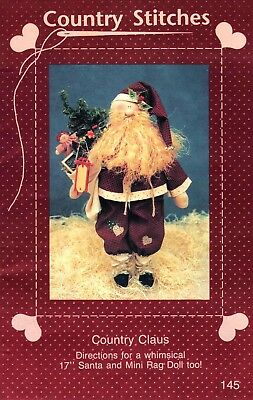 Country Claus Doll Pattern- Country Stitches