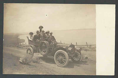 Ca 1912 RPPC* Touring Card W/Rumble Seat Mint