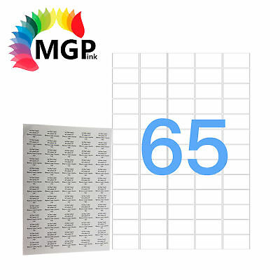 100 Sheets 65 Labels Per Page 6500 Labels 21.2x38.1mm A4 Office Mailing Labels