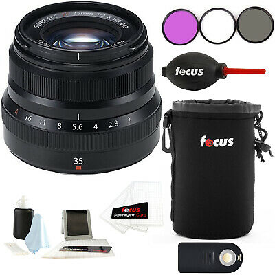 Fujifilm 35mm f/2 WR Lens for Fuji X Series w/Focus Accessory Bundle