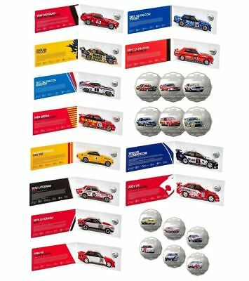 2018 SET OF 6 50c COIN UNCIRCULATED FORD & HOLDEN MOTORSPORT COLLECTION RAM