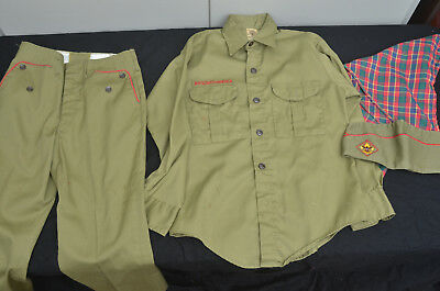 Vintage Boy Scouts of America BSA Green Uniform Shirt, Pants, Kerchief and Hat