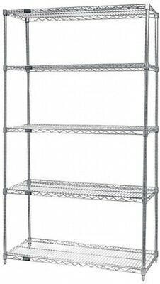Quantum Storage Systems Wire 5 Shelf Starter Unit In Chrome Finish - 18' X 24'