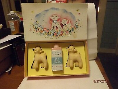 Vintage Avon Children's Little Lambs Set 50's