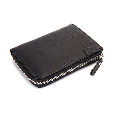 Men's Leather Wallet Purse RFID Contactless Card Blocking ID Protection