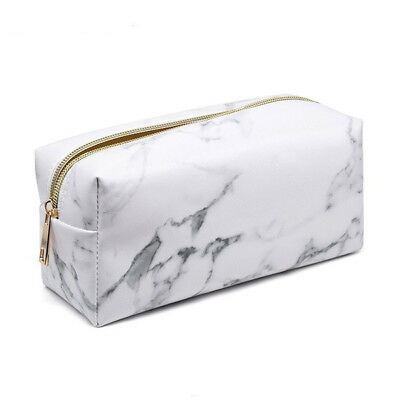 Marble Multi-Function Purse Box Travel Makeup Cosmetic Bag Toiletry Pencil Case