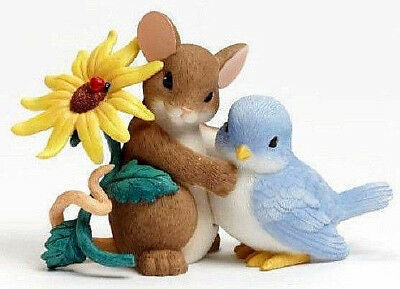 Charming Tails~Mouse & Blue Bird~Thank You Being So Tweet~ Figurine~Nib~4043860