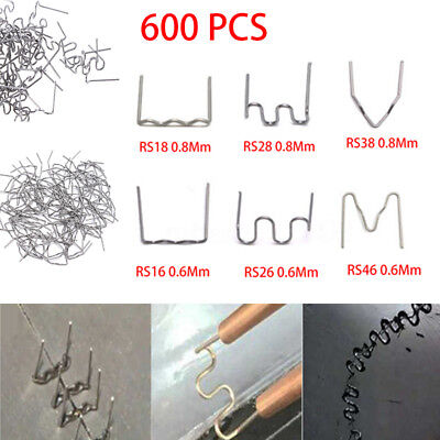 600PCS  0.6/0.8mm Hot Stapler Staples For Plastic Welder Car Bumper Repair New