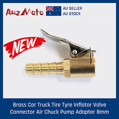 1X Tyre Chuck With Valve Stem Lock On Clip Tire Inflator Air Fittings Tools Aus