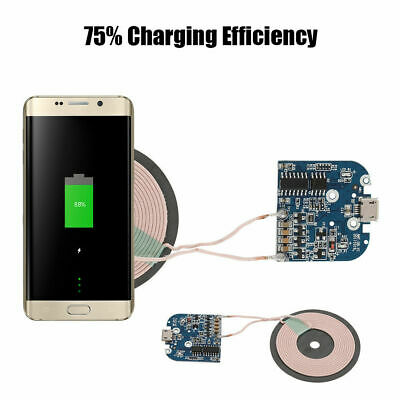 Wireless Charger Transmitter Qi Fast Module Dual Coil Charging Board DIY10-15W Y