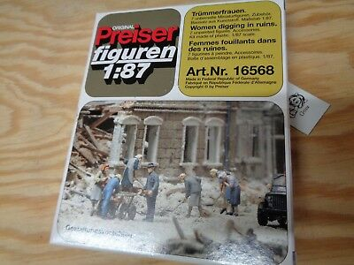Pk120 Preiser 16352 People Seen At Station Unpainted Figures HO Gauge