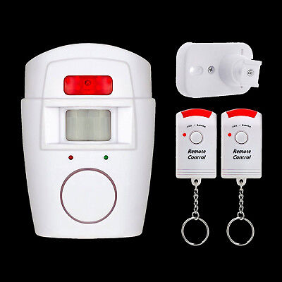 Wireless PIR Motion Sensor Alarm With 2 Remote Controllers For Home Shed Caravan