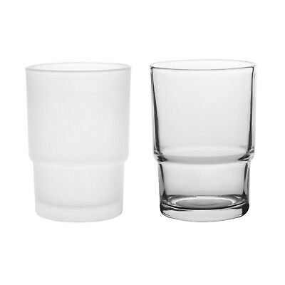 Livpow Pack of 2 Glass Tumbler Cup Replacement Spare Bathroom Toothbrush Holder