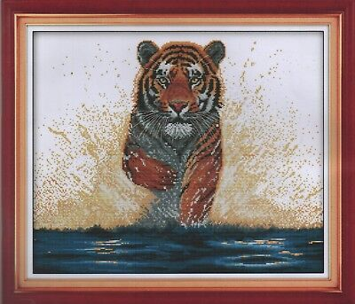 Counted Cross Stitch Kit, Magnificent Tiger