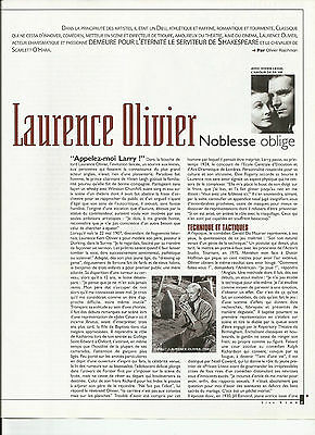 Laurence Olivier / 2000 Article Presse Reportage