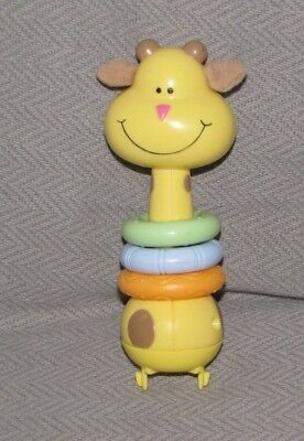 Replacement Part Giraffe Plastic Baby Toy Rings Yellow Orange Green Exersaucer