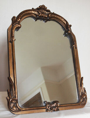 Antique French Carved Giltwood and Gesso Wall/Easel  Mirror