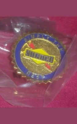 SUNOCO refinery SIMPLY THE BEST Uniform lapel Pin GAS GASOLINE STATION metal OLD