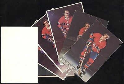 1972-73 Pro Star Promotions Postcard Montreal Canadiens Nhl Hockey Card See List